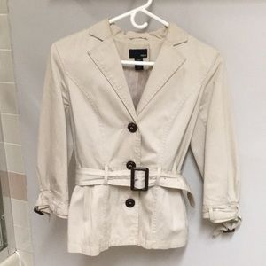 NWOT! Khaki Jacket w/ Belt @Waist & 3/4 Sleeves